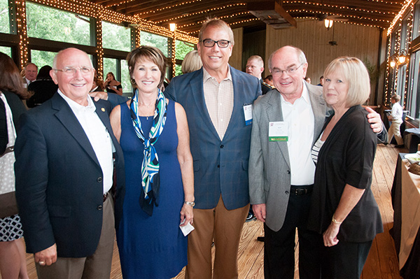 SCCTA Executive Director Ray Sharpe, TWC executive Dan Jones and spouse Pat enjoy the reception with 2013 SCCTA Legislator of the year Paul Campbell and spouse.